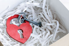 Key of the secret of love Stock Images