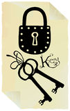 Key and security pictogram Royalty Free Stock Photos