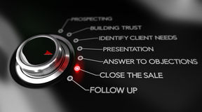 Key Selling Points, Sales Process Illustration Royalty Free Stock Image