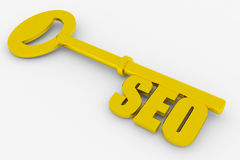 Key with SEO word Royalty Free Stock Photo