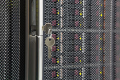 Key from server rack Royalty Free Stock Photography