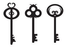 Key set. Old fashion style key set Stock Images
