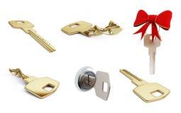 Key set on a white background Royalty Free Stock Image