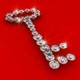Key shape 3d diamond art illustration Stock Photography