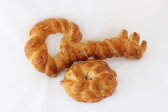 Key shape challah bread. Series of key shape challah baked after passover royalty free stock images