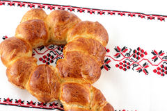 Key shape challah bread. Series of key shape challah baked after passover stock photography