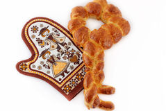 Key shape challah bread. Series of key shape challah baked after passover stock images