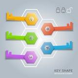 Key shape infographic diagram Stock Photo
