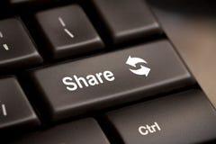 key share för knapp Arkivbild