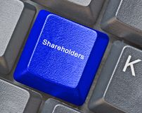 Key for shareholders stock photography