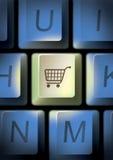 key shopping för vagn Arkivfoton