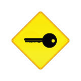 Key sign Royalty Free Stock Photo