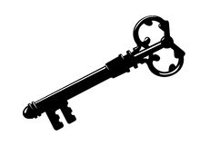 Key silhouette Royalty Free Stock Photos