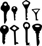 Key silhouettes Stock Photography