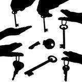 key silhouettes Stock Photo