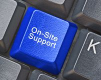 Key for on-site support Stock Image