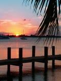 key solnedgång för largo ii Fotografering för Bildbyråer