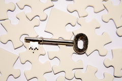Key for Solution. A metaphorical background showing a solution key to a puzzle Stock Photography
