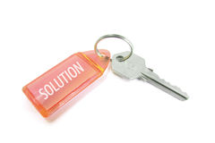 Key with Solution Royalty Free Stock Images