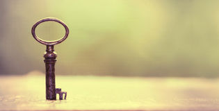 Key - solution concept. Key - success and solution concept banner Royalty Free Stock Image