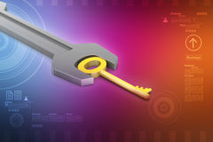 Key with spanner Royalty Free Stock Photography