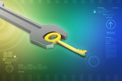 Key with spanner Stock Image