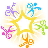 Key Star Burst Icon Royalty Free Stock Image