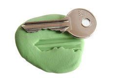 Key steal -security concept Royalty Free Stock Photo