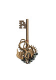 Key steampunk. Elven, old dragon isolated on white Stock Image
