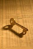 Key on stock index Stock Photo