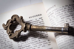 Key of. Succeed,business or education concept Royalty Free Stock Photos