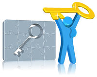Key for success. Business concept Three dimension style and high quality Royalty Free Stock Image