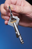 Key of success. Businessman with key of success Royalty Free Stock Photography