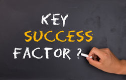 Key success factor. Question on chalkboard stock photography
