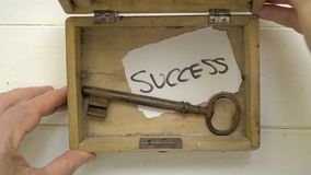 Key for success stock footage
