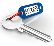 Key With Success Word Showing Winning Royalty Free Stock Photography