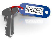 Key With Success Word Shows Winning Royalty Free Stock Images