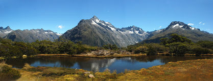Key Summit at Fiordland National Park Royalty Free Stock Images