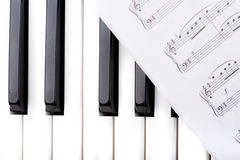 Key synthesizer with note macro Royalty Free Stock Photography