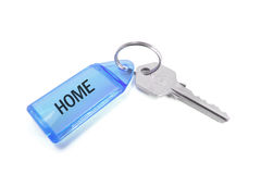 Key with Tag. On Isolated White Background Stock Photography
