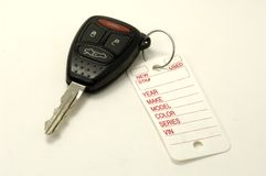 Key Tag. Dealership Key Tag Stock Images