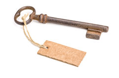 Key with a tag Stock Image