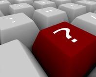 key tangentbordfläckfrågan Arkivbild