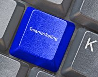 Key for telemarketing. Keyboard with key for telemarketing Royalty Free Stock Images