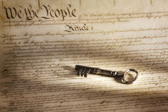 Key to the American Constitution Royalty Free Stock Images