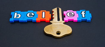 Key to belief Stock Photography