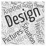 24 The Key to Better Websites B Design word cloud concept  background. Text Stock Photos