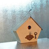 Key to bird house stock image