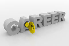 Key to career into 3D word. Concept. Royalty Free Stock Photography