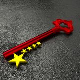 The key to china in red and gold Stock Photography